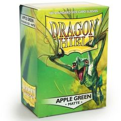 Dragon Shield Standard-size (100ct) Sleeves - Matte Apple Green