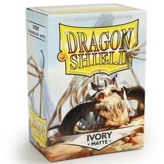 Dragon Shield Standard-size (100ct) Sleeves - Matte Ivory