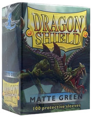 Dragon Shield Standard-size (100ct) Sleeves - Matte Green
