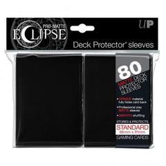 Ultra Pro Matte Eclipse Large Sleeves 80ct - Black (#85345)
