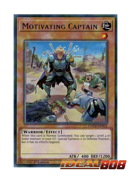 Motivating Captain COTD-EN031 Yu-Gi-Oh Rare Card English 1st Edition Mint New