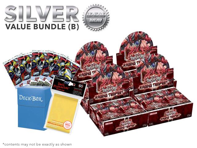 Yugioh Raging Tempest Bundle (B) Silver - Get x4 Booster Boxes + Bonus Items (See Description)