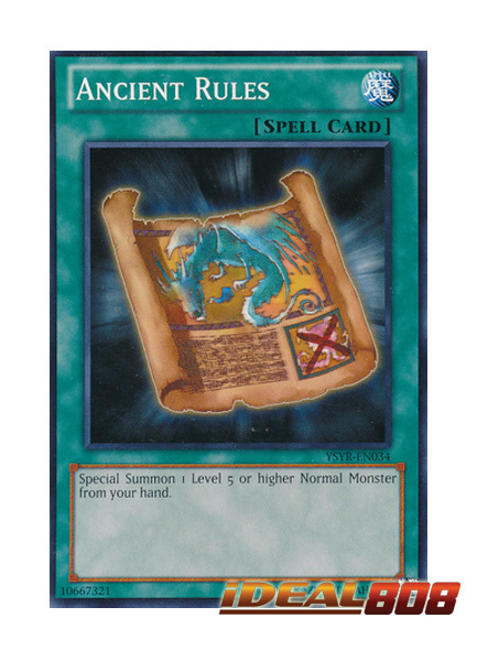 Ancient Rules - YSYR-EN034 - Common - Unlimited Edition