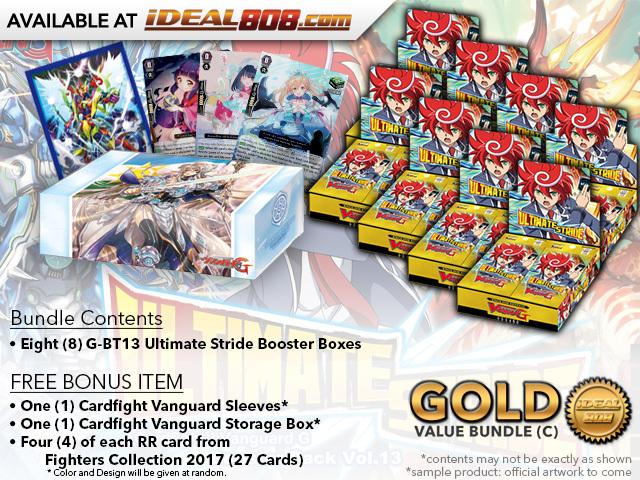 CFV-G-BT13  Bundle (C) Gold - Get x8 Ultimate Stride Booster Box + FREE Bonus Items * PRE-ORDER Ships Dec.22