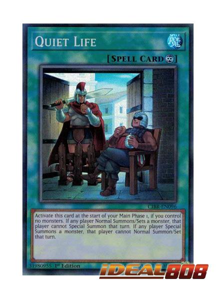 1st Edition CIBR-EN096 Quiet Life - Super Rare