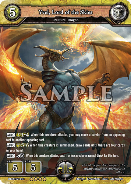 Yvel, Lord of the Skies (Foil) [DB-BT02/001 RR (OOOO)] English