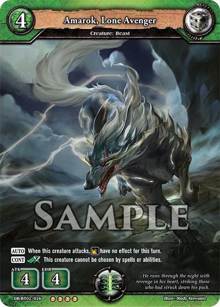 Amarok, Lone Avenger (Foil) [DB-BT02/026 RR (OOOO)] English