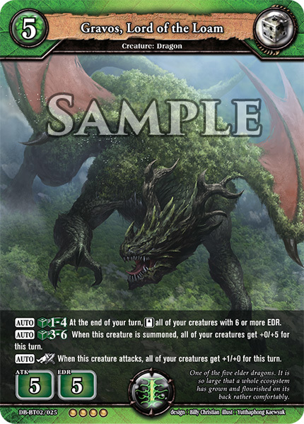 Gravos, Lord of the Loam (Foil) [DB-BT02/025 RR (OOOO)] English