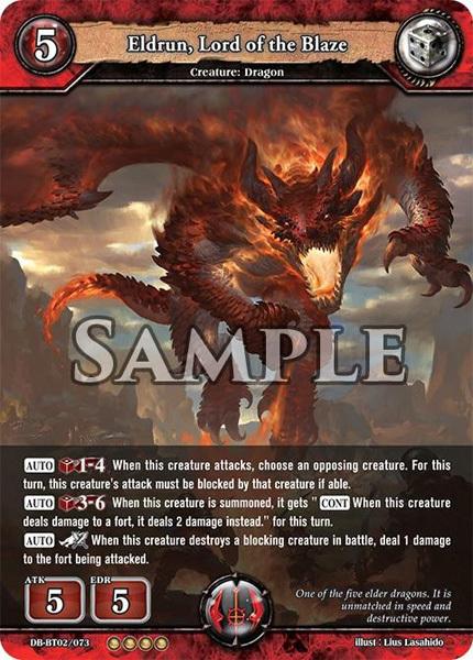 Eldrun, Lord of the Blaze (Foil) [DB-BT02/073 RR (OOOO)] English