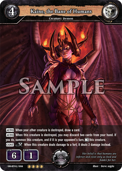 Kaine, the Bane of Humans (Foil) [DB-BT02/098 RR (OOOO)] English