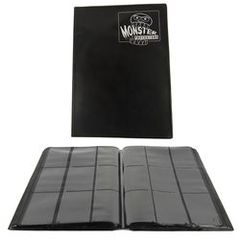 Mega Monster 9 Pocket Binder - Black