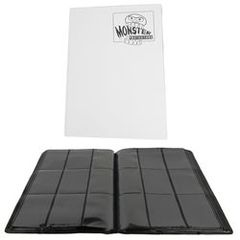 Mega Monster 9 Pocket Binder - White
