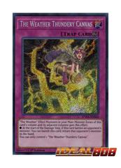 The Weather Thundery Canvas - SPWA-EN040 - Secret Rare - 1st Edition