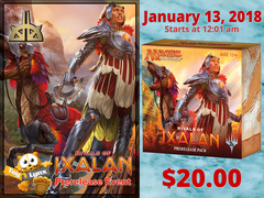 [EVENT TICKET] ToyLynx - Dole Cannery - Rivals of Ixalan Prerelease<br 00>[January 13, 2018 at 12:01 am] <br> * Limit 1 per *