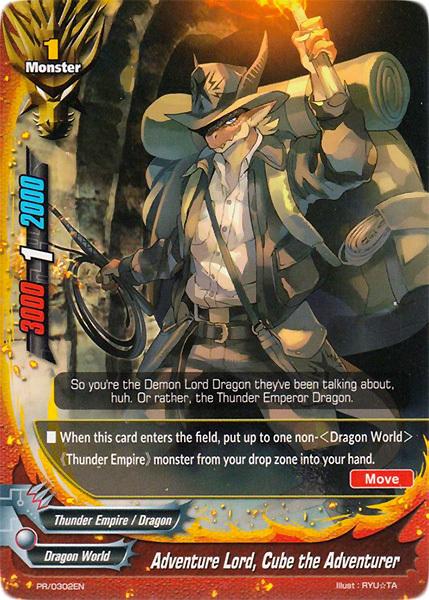 Adventure Lord, Cube the Adventurer [PR/0302EN (Regular)] English