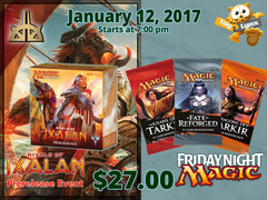 [EVENT TICKET] ToyLynx - Dole Cannery - FNM Khans Block Draft + Rivals of Ixalan Prerelease<br 000>[January 12, 2018 at 7:00 pm]