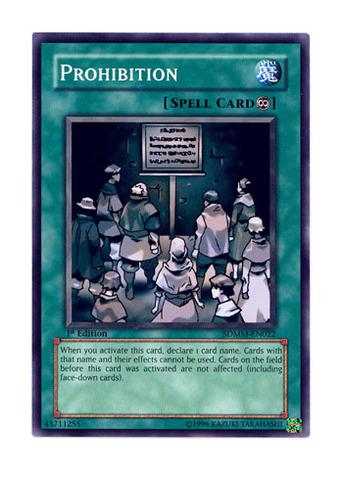 Prohibition - SDMM-EN022 - Common - Unlimited Edition
