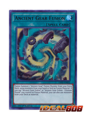 Ancient Gear Fusion - LED2-EN032 - Ultra Rare - 1st Edition