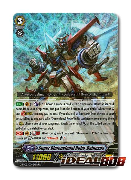 Super Dimensional Robo G-EB03//008EN RRR Cardfight Vanguard Card Dainexus