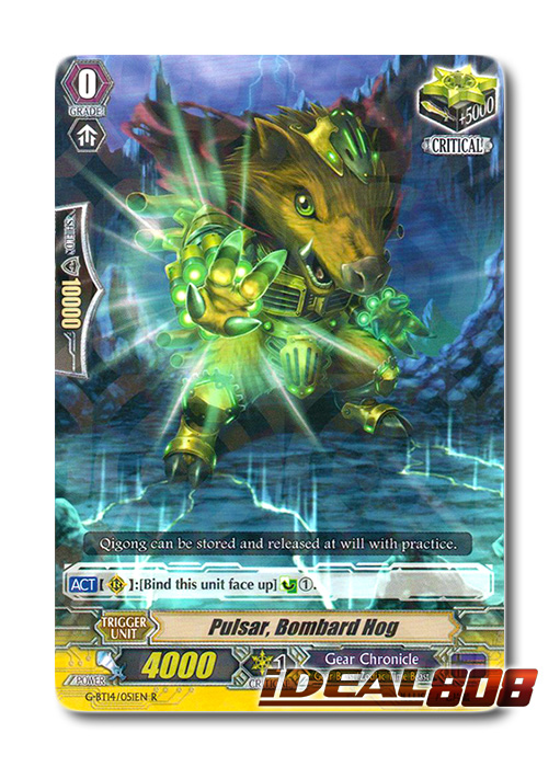 G-BT14//051EN R Pulsar Cardfight Vanguard Card Bombard Hog