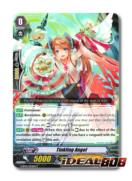 Common Cardfight Vanguard: Regalia Of Thoughts Feeling Angel G-BT14//074EN C