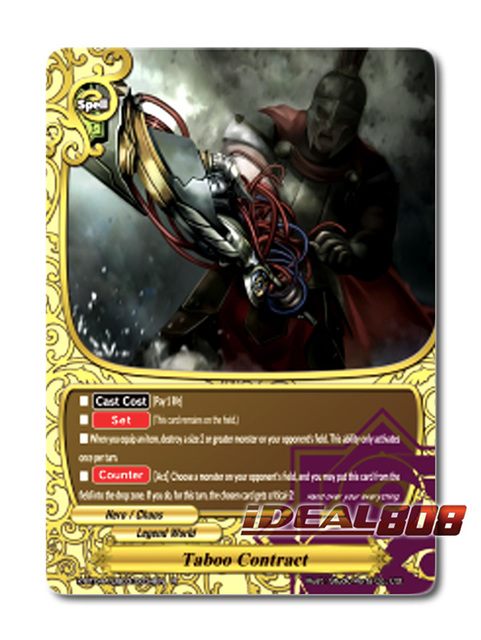 Taboo Contract [X-BT04A-UB03/0034EN R (FOIL)] English