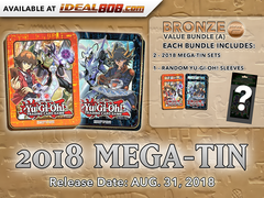 Yugioh 2018 Mega-Tin - Bundle (A) - Get x4 Mega-Tins (2 of Each) + Bonus Item * PRE-ORDER Ships Aug.31, 2018