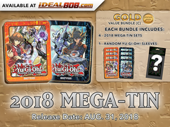 Yugioh 2018 Mega-Tin - Bundle (C) - Get x8 Mega-Tins (4 of Each) + Bonus Item * PRE-ORDER Ships Aug.31, 2018