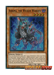 Ahrima, the Wicked Warden - SR06-EN002 - Super Rare - 1st Edition