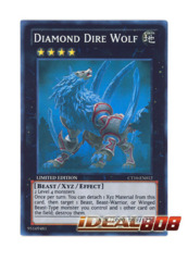 Diamond Dire Wolf - CT10-EN012 - Super Rare - Limited Edition