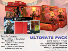MTGHOU Ultimate Pack - Get x3 Hour of Devastation Booster Box; x1 Bundle; & 1 Planeswalker Deck Set + FREE Bonus Items