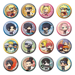 Naruto Shippuden Arata na Jidai Dattebayo! Ver. Can Badge Collection Box (All 16 Pieces)