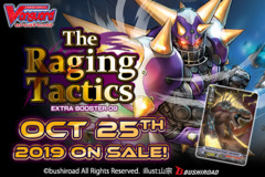 CFV-V-EB09 The Raging Tactics (English) Cardfight Vanguard V-Extra Booster  Case [24 Boxes] * PRE-ORDER Ships Oct.25