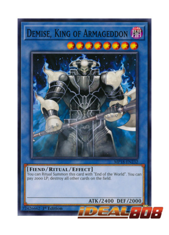 Demise King of Armageddon MP18-EN232 Common 1st Edition YuGiOh