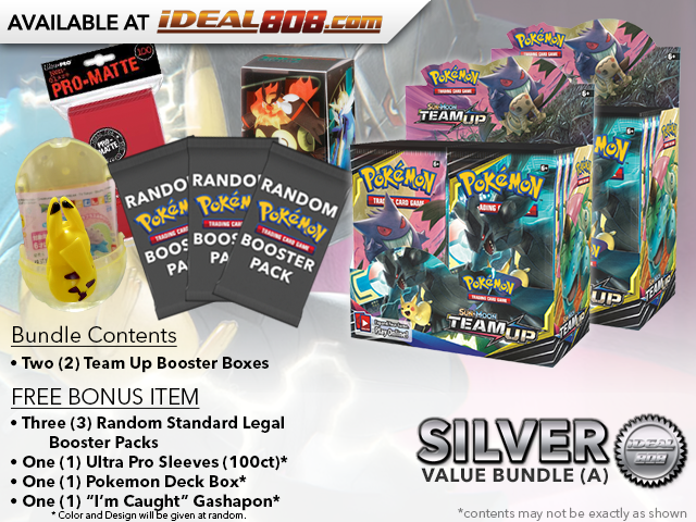 Pokemon SM09 Bundle (A) Silver - Get x2 Team Up Booster Box + FREE Bonus * PRE-ORDER Ships Jan.28