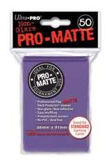 Ultra Pro Matte Non-Glare Large Sleeves 50ct. - Purple (#84187)