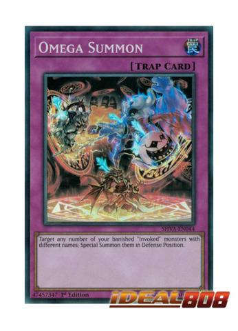Omega Summon - SHVA-EN044 - Super Rare - 1st Edition