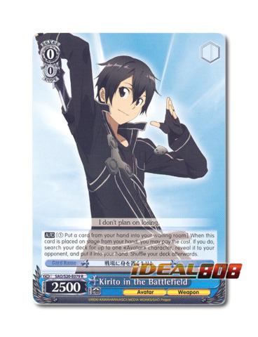 English SAO//S20-E073 CC Weiss Schwarz Sword Art Online x 4 First Adventure