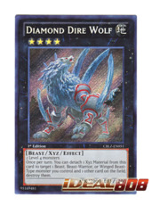 Diamond Dire Wolf - CBLZ-EN051 - Secret Rare - 1st Edition
