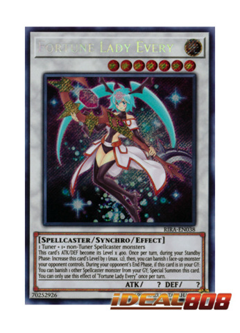 Fortune Lady Every - RIRA-EN038 - Secret Rare - Unlimited Edition