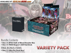 Dragoborne BT02 Variety Pack - Get x1 Oath of Blood Booster Box & x2 TD04 Reaper's Gift Trial Deck + FREE Bonus Items
