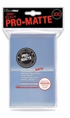 Ultra PRO PRO-Matte Standard Size Sleeves 100ct Pack Clear