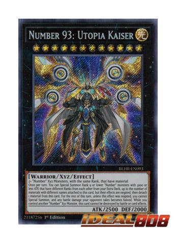 Number 93: Utopia Kaiser - BLHR-EN093 - Secret Rare - 1st Edition