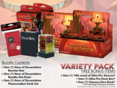 MTGHOU Variety Pack - Get x1 Hour of Devastation Booster Box; x1 Bundle; & 1 Planeswalker Deck Set + FREE Bonus Items