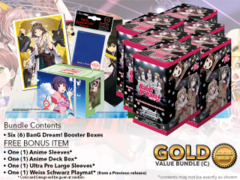 Weiss Schwarz BD Bundle (C) Gold - Get x6 BanG Dream! Booster Boxes + FREE Bonus
