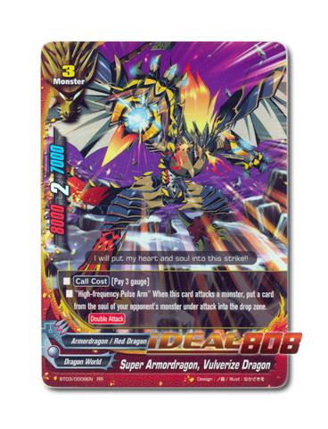 Super Armordragon, Vulverize Dragon - BT03/0009EN (RR) Double Rare