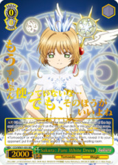 Sakura: Pure White Dress  [CCS/WX01-035SEC SEC (Secret SIGNED FOIL)] English