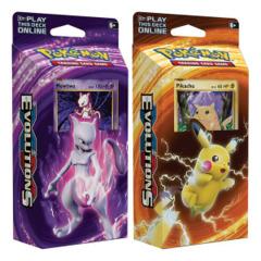 XY Evolutions -  Mewtwo & Pikachu (XY12) Pokemon Theme Deck Set