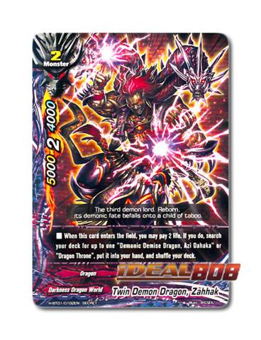 Twin Demon Dragon, Zahhak [H-BT01/0102EN Secret] English