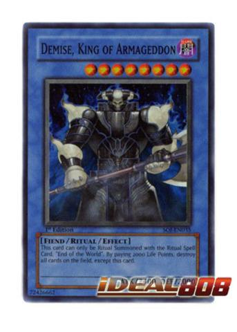 Demise, King of Armageddon - SOI-EN035 - Super Rare - 1st Edition